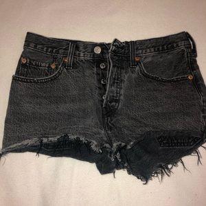 Levi's Shorts - black levi's cut off shorts